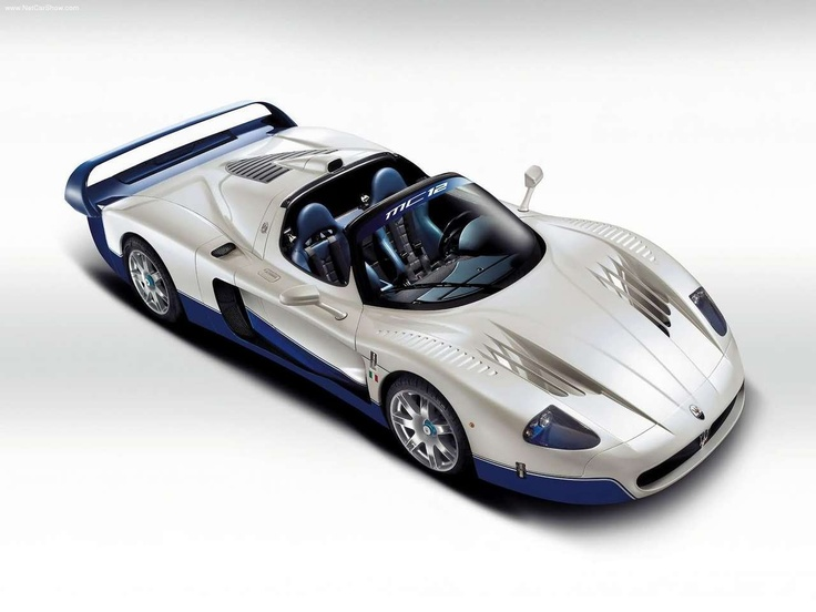Quite possibly the most beautiful car ever. 2004 Maserati MC12