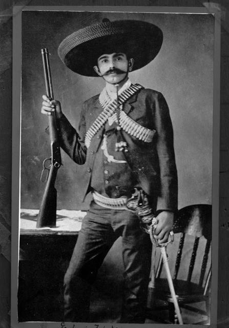 Portrait of Eufemio Zapata Salazar, brother to revolutionary hero Emiliano Zapata, Mexico, 1914, photographer unknown.