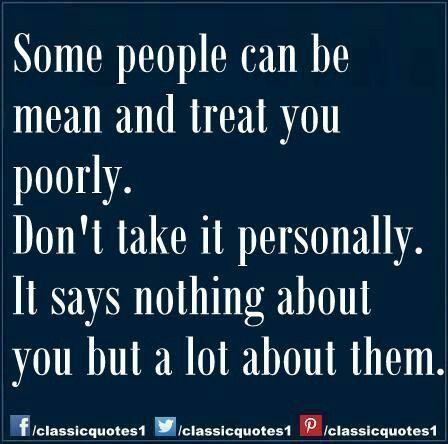 Mean people...