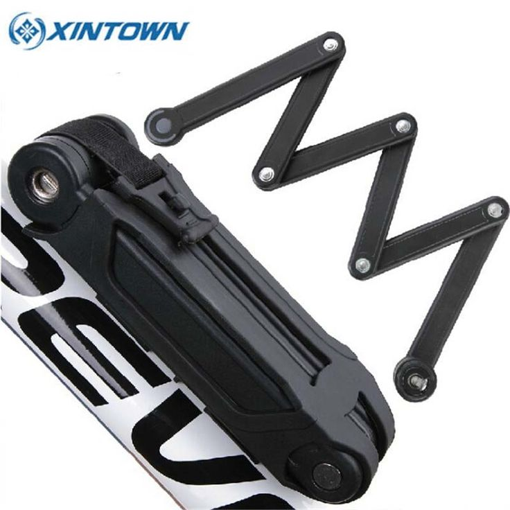 58.80$  Buy now - http://ali0wx.worldwells.pw/go.php?t=32787586039 - XINTOWN Bicycle Lock Professional Foldable Bike Lock MTB Road Cycle Chain Lock 45*850mm Anti-theft Bicycle Safety Lock Black 58.80$