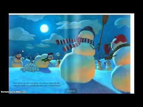Book Snowman at Night