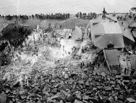 1889- Glissement rocheux survenu à Québec en septembre 1889.