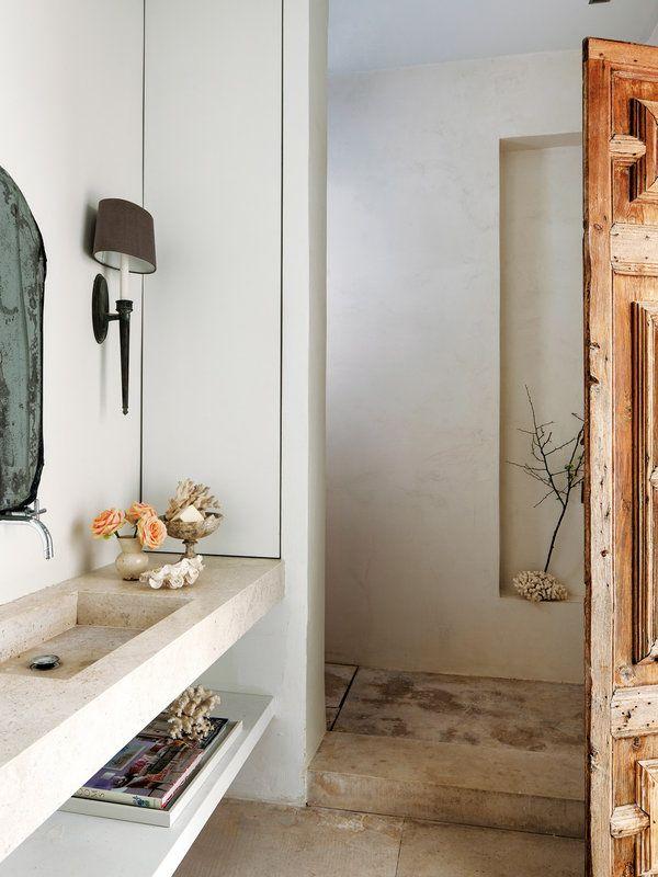 Las 25 mejores ideas sobre ducha de piedra en pinterest for Muebles para ducha