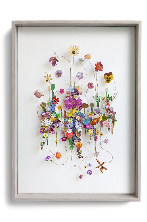 Flower construction #69 (w:50 h:70 d:6.5 cm)