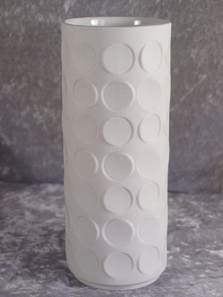 Winterling Porzellan Schwarzenbach matt weisse Vase Designvase 23 cm