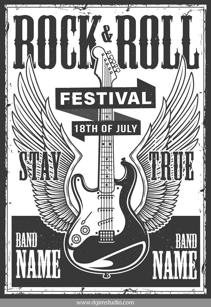 Rock Roll Designs Bundle Fotos Estampas Poster
