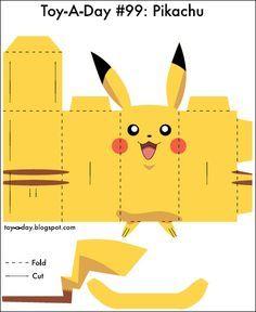 Pikachu para Recortar e Montar! | Fazendo a Minha Festa