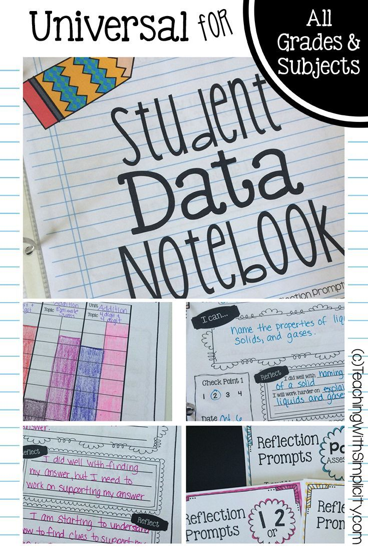 The Student Data Notebook is 100% editable, can be used for ALL subjects, and ALL grade levels!!