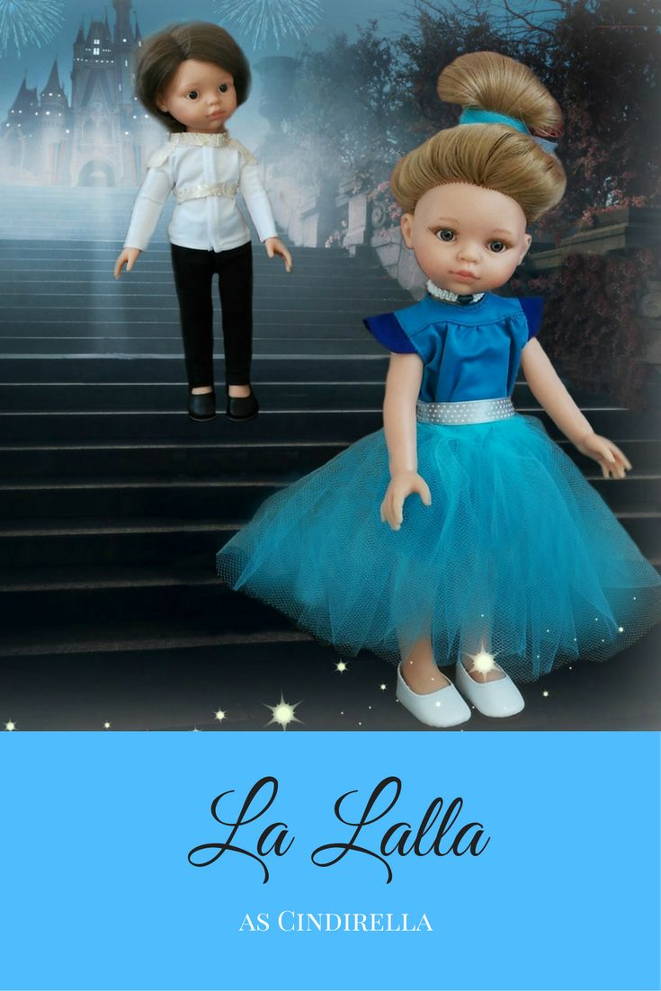 Play with your La Lalla doll and dress up like a princess. We had a lot of fun making this dress from one of the oldest models. #inspiration #play #kids #fun #blue #princess #cindirella #birthdaygift #happy