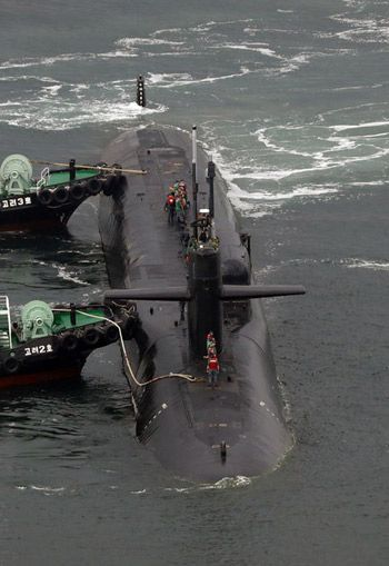 U.S. Nuclear Submarine Arrives in Busan | Koogle TV