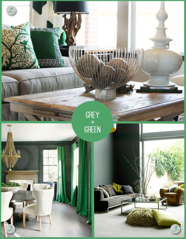Grey And Green As The Base Colors.
