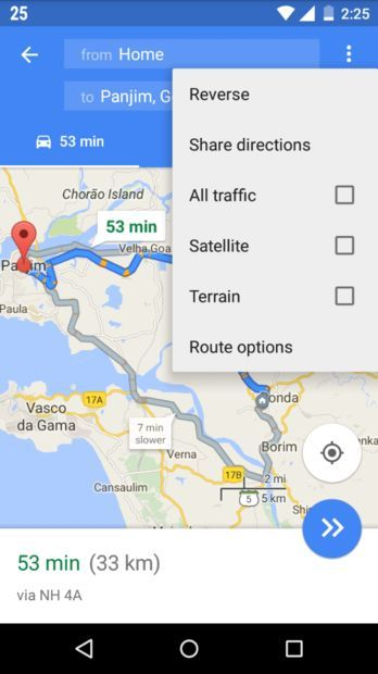 Picture of Save google map directions as way-points and navigate offline on an Android device