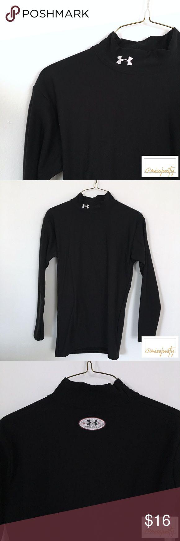 Under Armour Turtleneck, Men's L Top has gentle wear as shown in photos, in good condition. I'm happy to answer any questions you may have! Bundle with another item and save 10% 💖✨ Under Armour Shirts