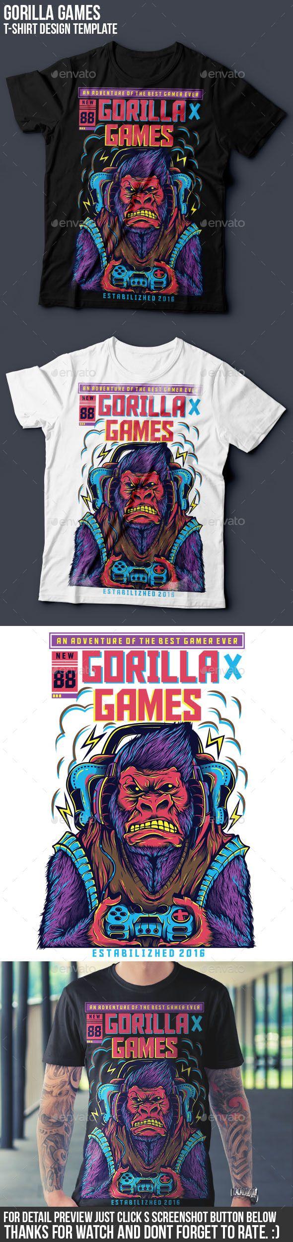 Shirt design games - Gorilla Games Funny Designshirt