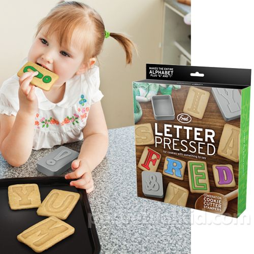 Homemade alphabet cookies! Making them would be fun, but my patience to neatly frost them might be a challenge.