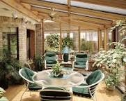 sunroom - plants and table