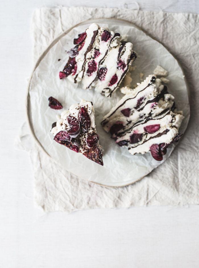 chocOlate & cherry meringue cake