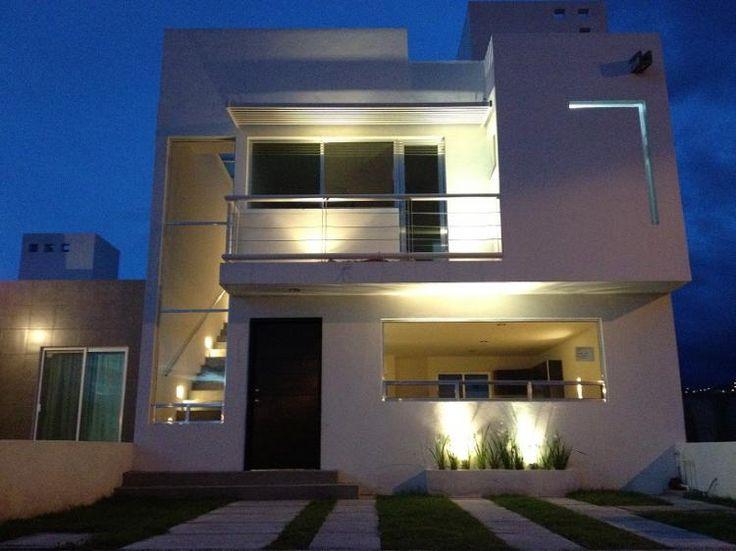 Fachadas de casas iluminadas inspiraci n de dise o de for Fachadas de casas modernas iluminadas