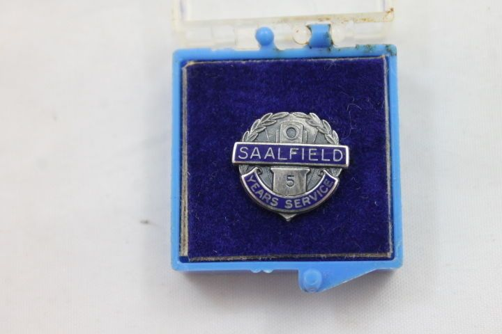 Rare SAALFIELD 5 Year Service Award Pin B.B.Co. Sterling Publishing Books