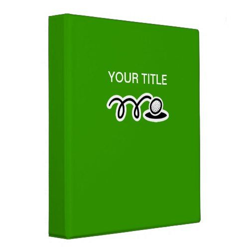 Golf ring binder / folder