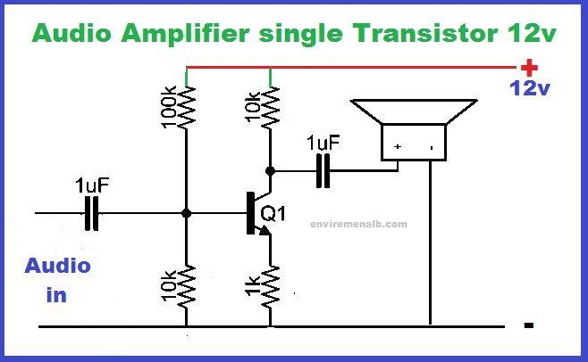 Single Transistor Amplifier Circuit Envirementalb Com Audio Amplifier Amplifier Transistors