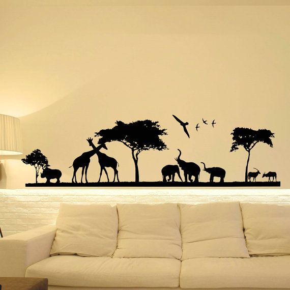 Best 25 living room wall decor stickers ideas on for Animal wall mural
