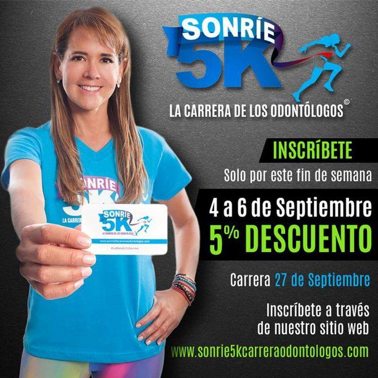 El portal siempre apoyando las causas nobles. En esta ocasión Patrocinador Platino #Sonrie5k Inscríbete e invita a tus colegas, amigos y familiares a la carrera de los odontólogos. http://sonrie5kcarreraodontologos.com/inscripcion-en-linea/ #LaMetaEsTuSonrisa