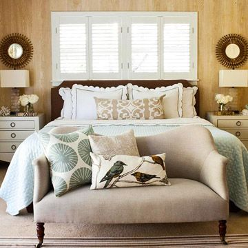 I don't like everything in this, but I like the idea of combining dark wood furniture with white, light blues  browns, and the combination of different styles (modern, retro, classic, straight line with some frilly pillows  flowers to make it more cozy...)