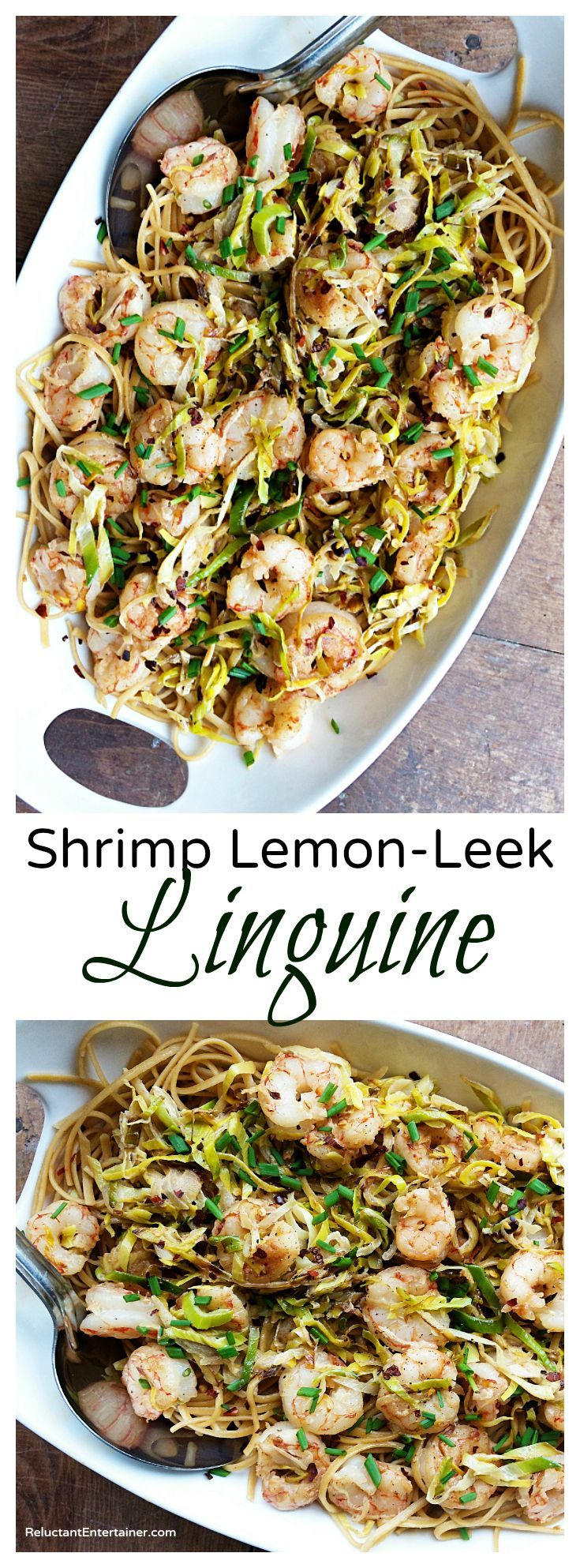 Shrimp Lemon-Leek Linguine Recipe