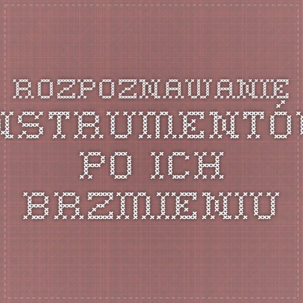 Rozpoznawanie instrumentów po ich brzmieniu