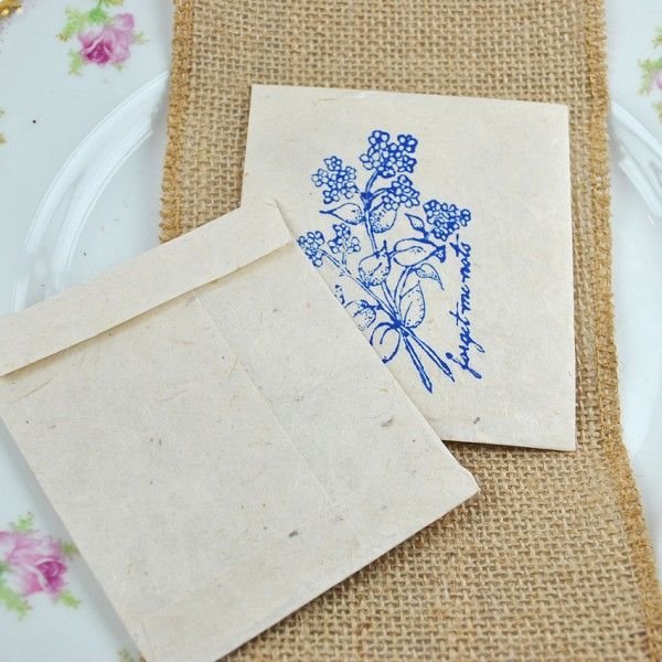 10 Forget Me Not Seed Packet Favours By Wedding In A: 88 Best Images About Seed Packet Wedding Favours On