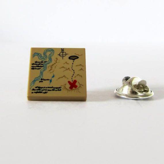 Lapel Pin-Pirate Map Pin-Treasure Map Pin-Geek Birthday Gift-Best Friend Gift-Nerds Pin-Cheap Brooches-Traveller's Pin-Unisex Brooch-Nerdy