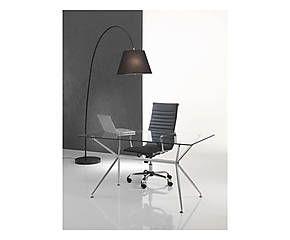 Tavolo scrivania in metallo e vetro temperato kendo - 140x76x80 cm
