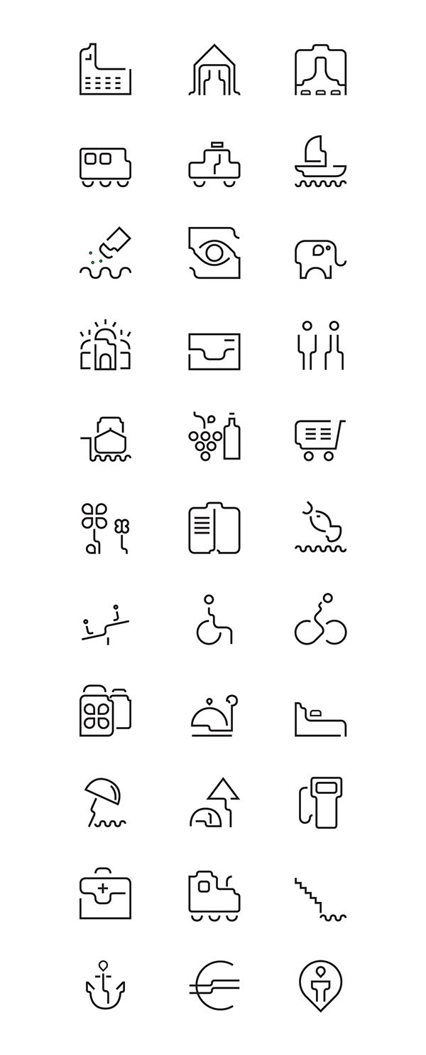 icon set - Braila city on Behance