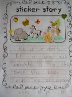 Teaching Blog Addict: Sticker Story writing