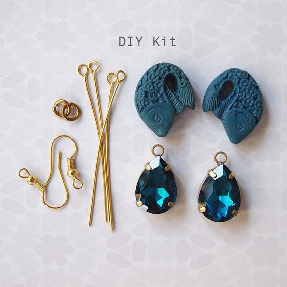 a quick and gorgeous project complete with supplies you need to make fabulous earrings. Jewellery Making DIY Kit To Make Earrings Or Pendants by luibeads