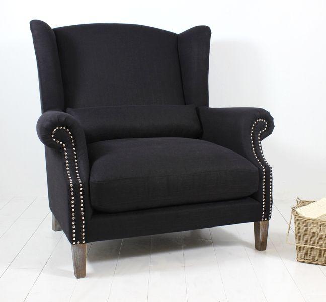 Celeste II Love chair Black from Villa Maison #americanstyle #classic #interiors #design