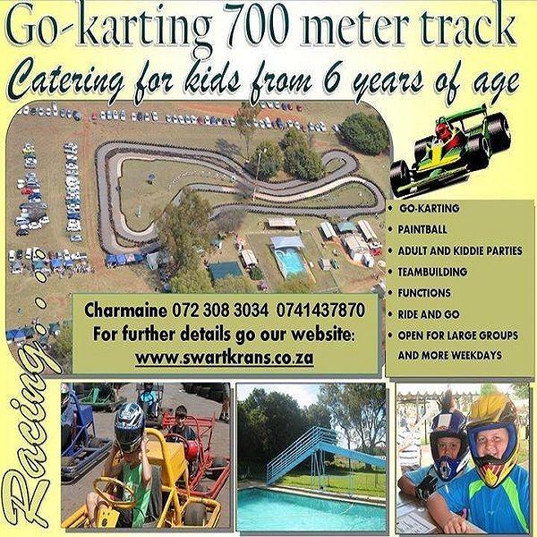 Swartkrans Go-Kart has A monster 700m track. The longest and most exciting go-kart track in Gauteng!