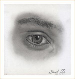 Graphite Pencil Drawing Tutorial: Male Eye