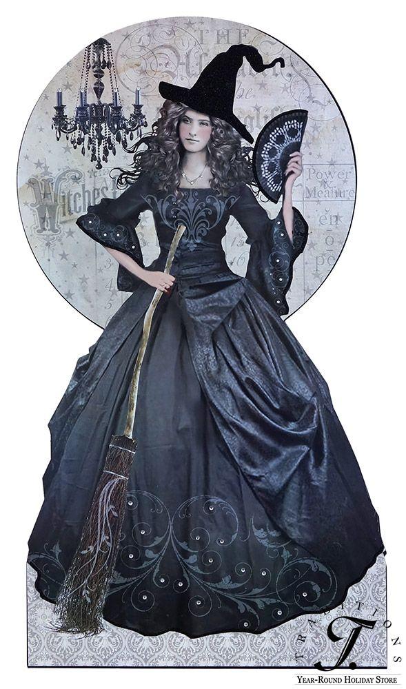 Vintage Halloween Decor - BLACK MAGIC WITCH SIGNBOARD