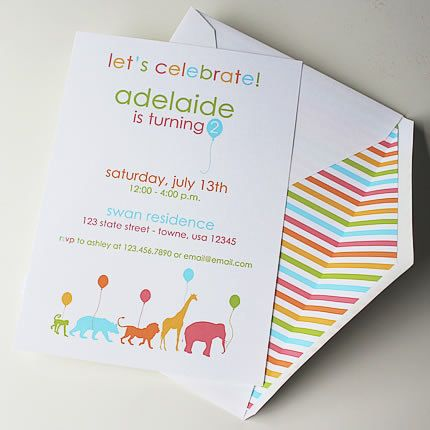 Hey, I found this really awesome Etsy listing at https://www.etsy.com/listing/155014648/animal-parade-invites