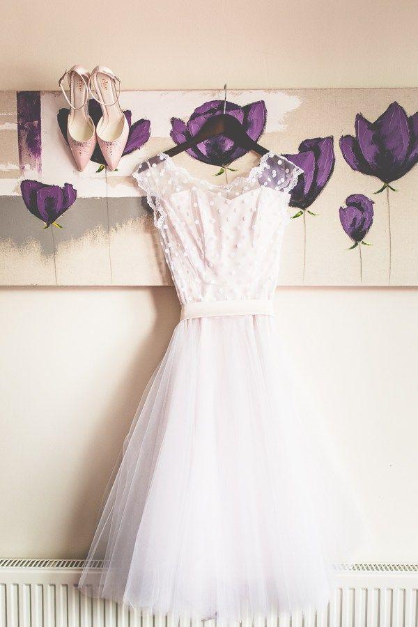 Polka Dot 1950s Dress Vintage Tea Party Tipi Wedding  http://lovethatsmilephotography.com/