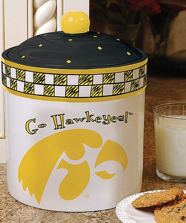 Look what I found on #zulily! Iowa Hawkeyes Game Day Cookie Jar #zulilyfinds