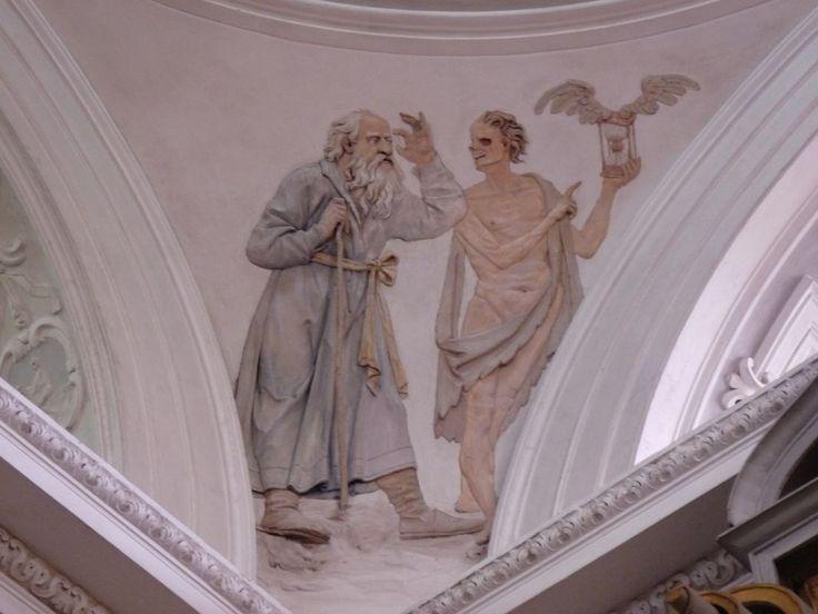"""""""Taniec śmierci"""" z Kościoła pw. Świętej Trójcy w Tarłowie. XVII wiek."""