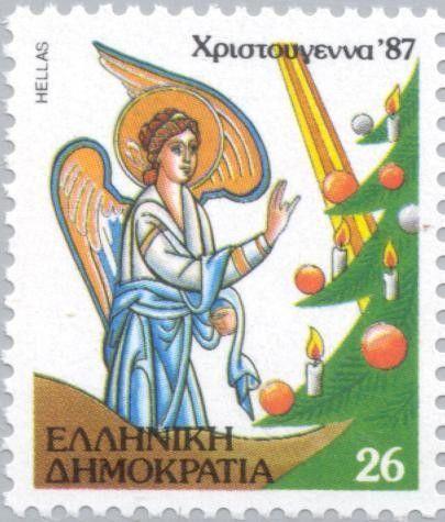 Stamp: Angels & Christmas Tree (Greece) (Christmas) Mi:GR 1678,Yt:GR…