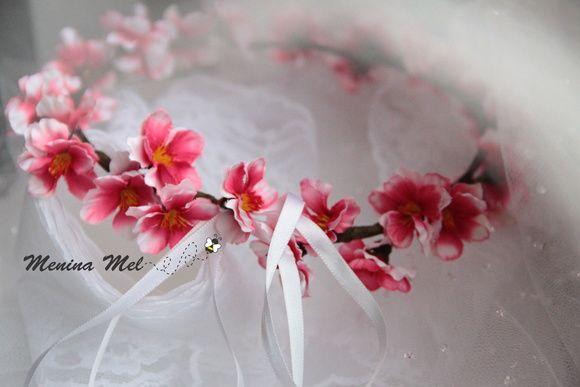 Coroa de Flores - Cerejeira Rosa