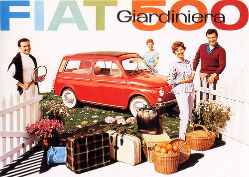 Fiat 500 giardiniera, 1960 by laura@popdesign, via Flickr