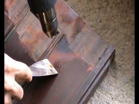 eliminar o quitar pinturas viejas y deterioradas con decapador de calor , muy fácil - YouTube