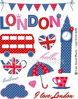 London Theme Cutouts #scrapbooking
