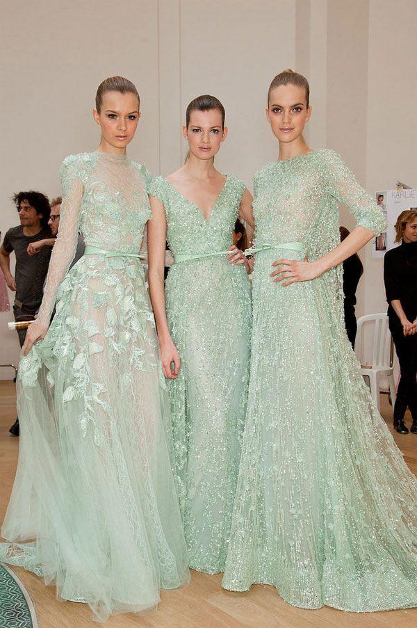 Ellie Saab mint dresses
